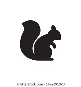 Squirrel silhouette vector,icon on a white background