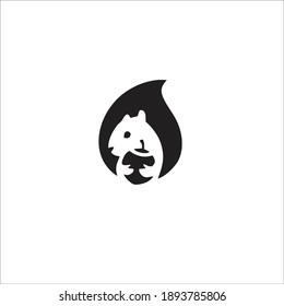 Squirrel Symbol Logo. Vector Illustration.