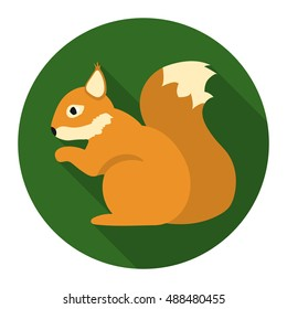 Squirrel vector icon in flat style for web