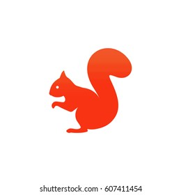 Squirrel. Vector illustration.