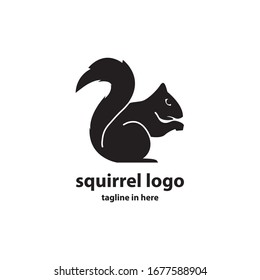 Squirrel vector logo design concept, simple, suitable for business finance and technology