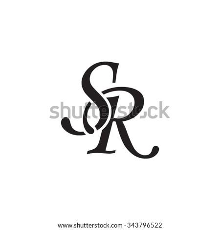 sr initial monogram logo のベクター画像素材 ロイヤリティフリー