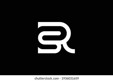 SR letter logo design on luxury background. RS monogram initials letter logo concept. SR icon design. RS elegant and Professional white color letter icon design on black background.