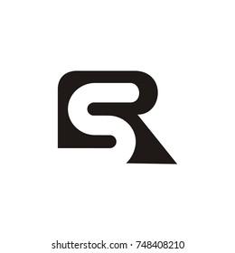 SR logo initial letter design template vector