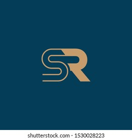 SR and RS logo and icon designs