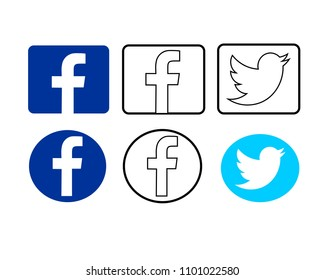 SRAGEN, INDONESIA - AUGUST 31, 2017: SOCIAL MEDIA ICON DESIGN ILLUSTRATION VECTOR