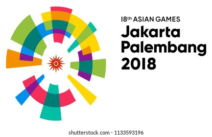 SRAGEN, INDONESIA - JULY 12, 2018: Asian Games 2018 Icon Vector Illustration