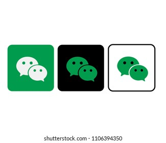 SRAGEN, INDONESIA - JUNE 04, 2018: WECHAT SOCIAL MEDIA ICON DESIGN