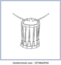 sri guru chenda musical drum vector  illustration