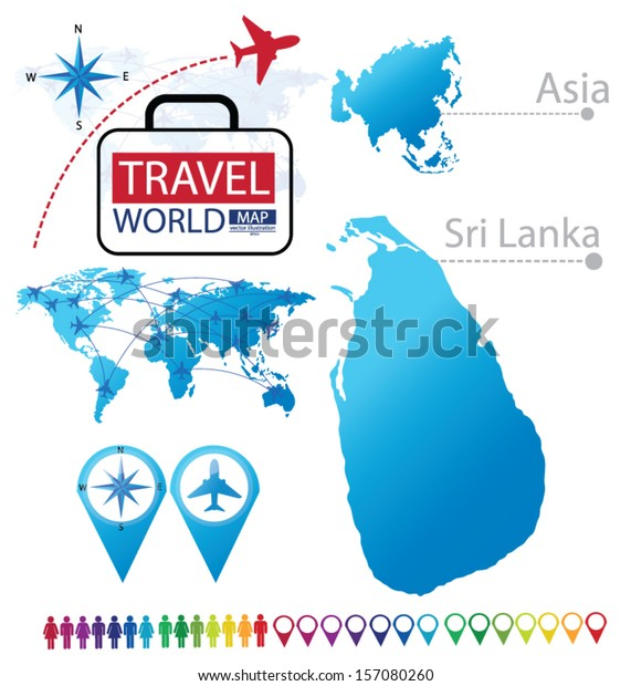 Map Of Asia Sri Lanka.Sri Lanka Asia World Map Travel Stock Vector Royalty Free 157080260