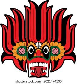Sri Lanka Devil Dancing Yaka Mask, Traditional Sri Lanka