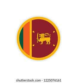Sri Lanka flag. Sri Lanka circle flag.