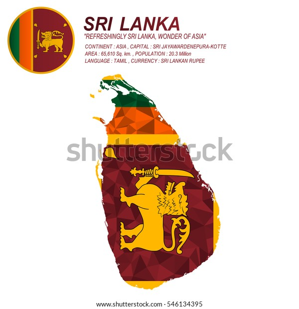 Sri Lanka Flag Overlay On Sri Stock Vector (Royalty Free) 546134395