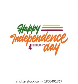 Sri Lanka Independence Day Greeting Card. Happy Independence Day Sri Lanka Vector Illustration.
