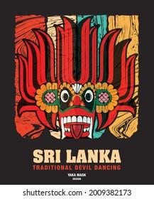 Sri lanka Traditional Devil Dancing Yaka Mask