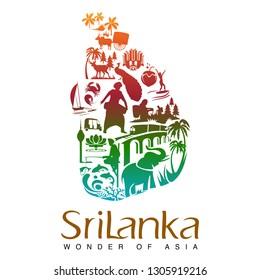 Sri Lanka Tourism Map Images, Stock Photos & Vectors | Shutterstock