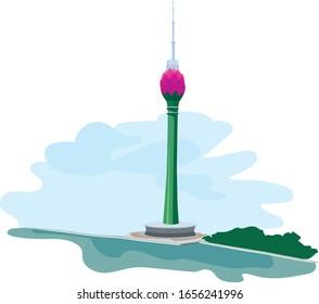 Sri Lankan Lotus Tower in  Colombo