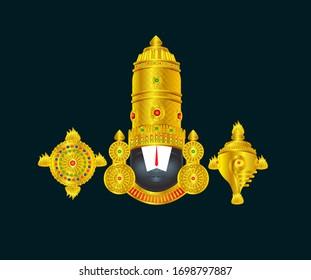 Sri Venkateswara Swamy Vaari God vector illustration