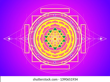 Sri Chakra Images, Stock Photos & Vectors | Shutterstock