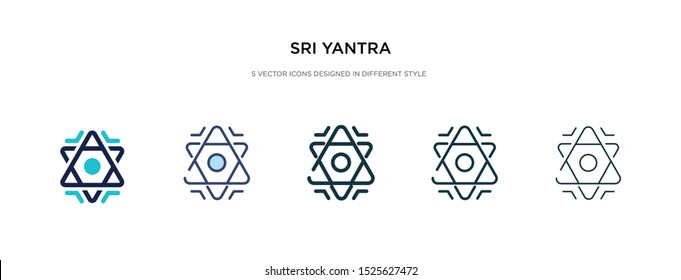 sri yantra icon in different style vector illustration. two colored and black sri yantra vector icons designed in filled, outline, line and stroke style can be used for web, mobile, ui