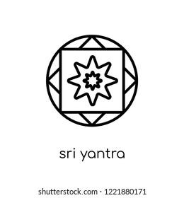 e50f3c3f7 sri yantra icon. Trendy modern flat linear vector sri yantra icon on white  background from