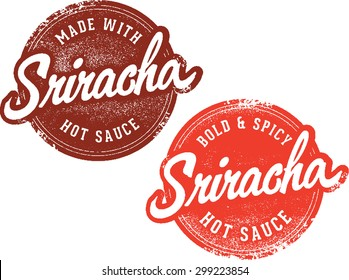 Sriracha Hot Sauce Stamps