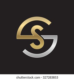 SS letters, golden silver circle S shape