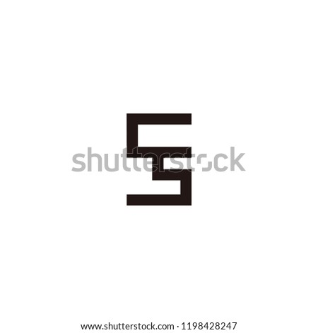 ss lettet vector logo stock vector royalty free 1198428247