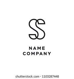 Ss monogram logotype without frame