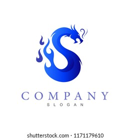 S-shaped dragon logo, dragon logo with letter s