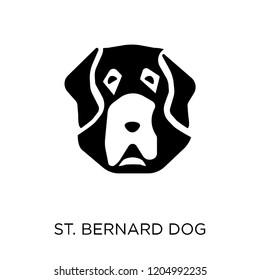 St. Bernard dog icon. St. Bernard dog symbol design from Dogs collection. Simple element vector illustration on white background.