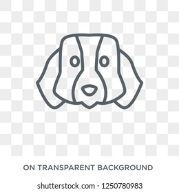 St. Bernard dog icon. Trendy flat vector St. Bernard dog icon on transparent background from dogs collection. High quality filled St. Bernard dog symbol use for web and mobile
