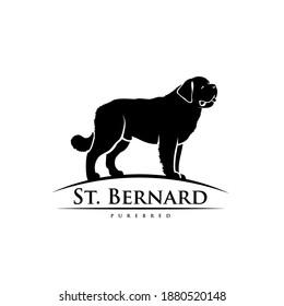 St Bernard dog - isolated vector illustration