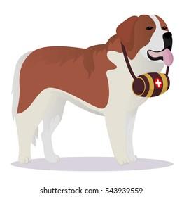 St Bernard dog lifesaver