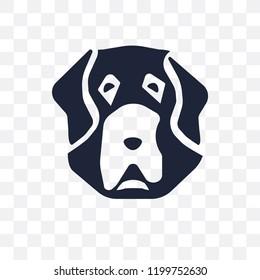 St. Bernard dog transparent icon. St. Bernard dog symbol design from Dogs collection. Simple element vector illustration on transparent background.