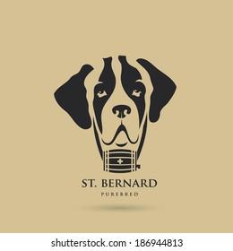 St. Bernard dog - vector illustration