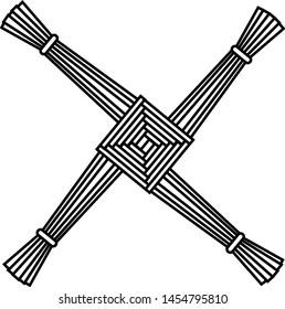 St. Brigid's Cross Symbol Vector