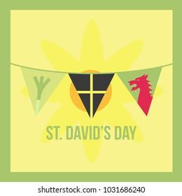 St. David's Day Illustration
