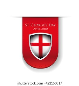 St George Day England flag shield