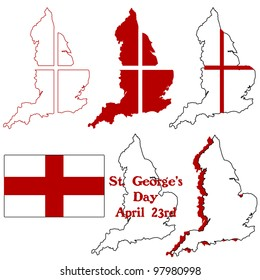 St George's Day England icons