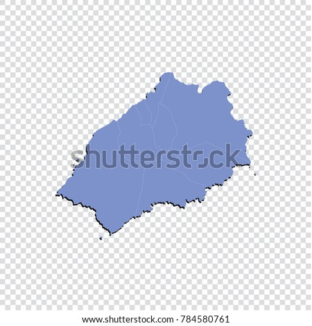 St Helena On World Map.St Helena Map High Detailed Blue Stock Vector Royalty Free