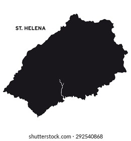 St. Helena map vector