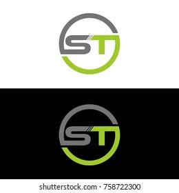 ST initial letters elegant logo, Modern Logo Design Vector