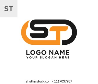 ST initial logo template vexctor