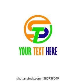 ST letter logo. Vector illustration