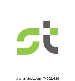 ST logo initial letter design template vector