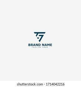 ST Logo. TS Letter Icon Design Vector Illustration.