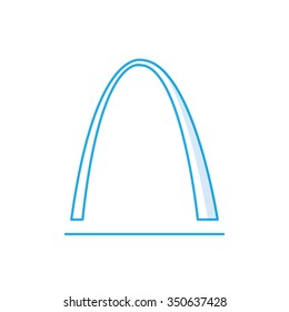 St Louis Arch icon, Famous world landmark, missouri, vector flat style design illustration