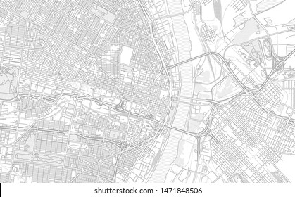 St. Louis, Missouri, USA, bright outlined vector map with bigger and minor roads and steets created for infographic backgrounds.