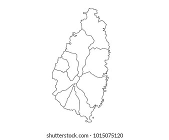 map of st lucia showing districts Vector St Lucia Images Stock Photos Vectors Shutterstock map of st lucia showing districts